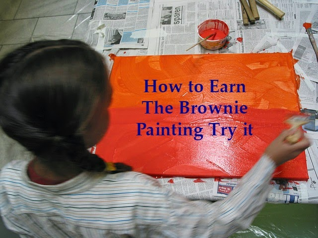 plans for earning the Brownie Painting Try it badge