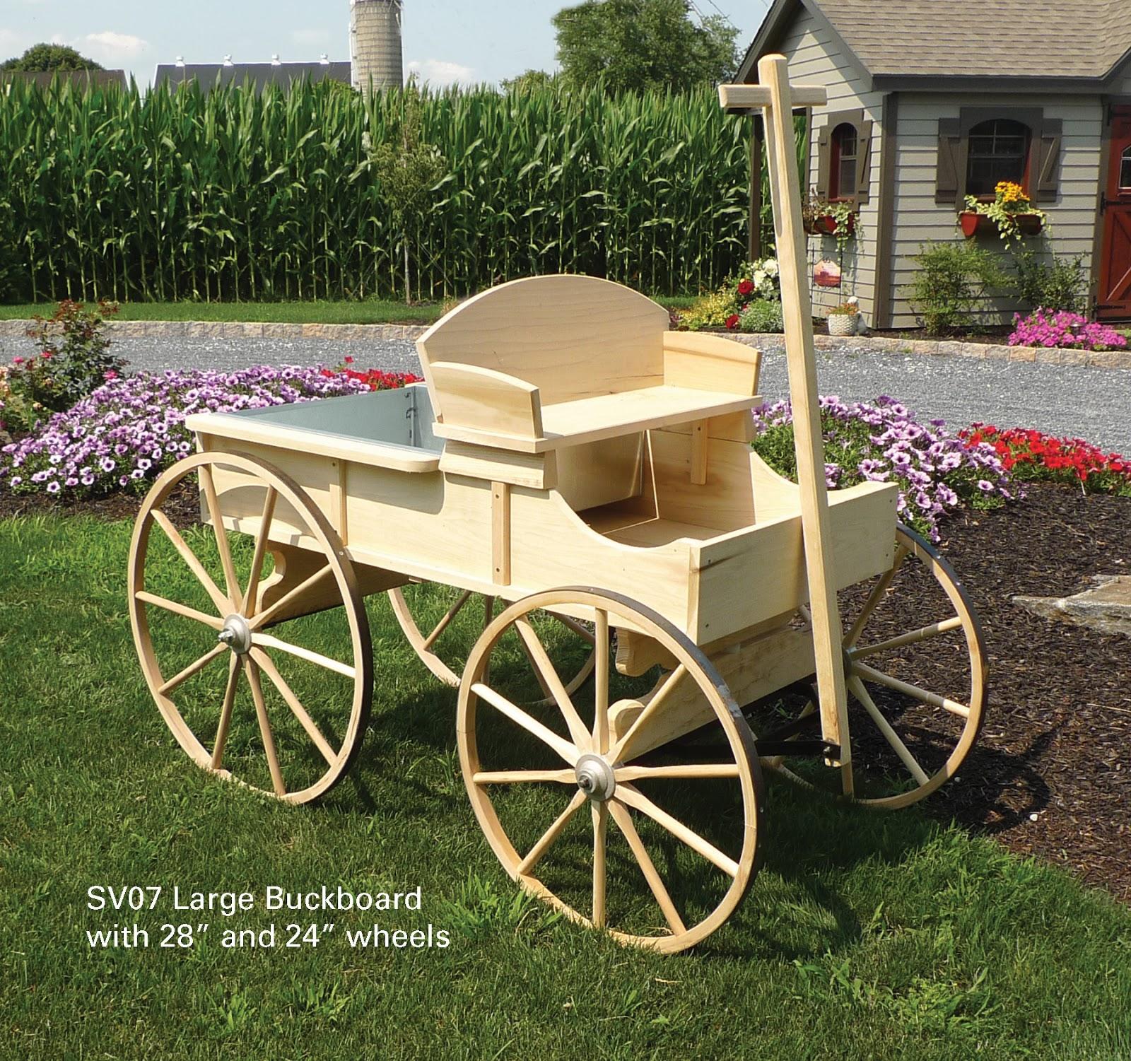 Amish Wagon Decorative Garden Decor