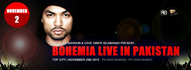 BOHEMIA PERFORMING LIVE IN PAKISTAN - NOVEMBER 2ND 2013