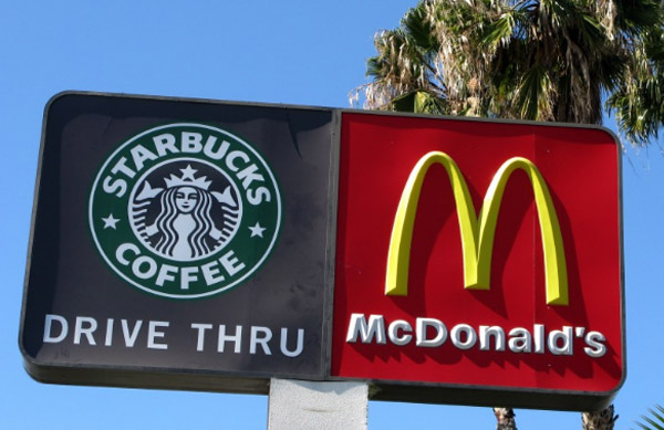 Starbucks pode valer mais do que McDonald's