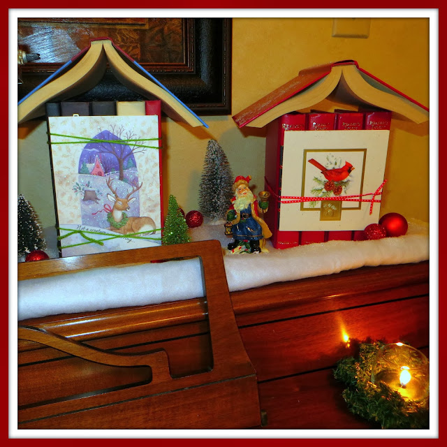 Christmas Village, book crafts, Christmas DIY