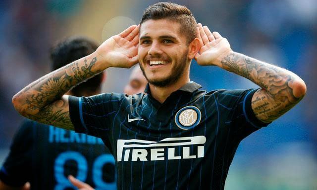 Foto Icardi (Inter) in gol contro il Cesena.
