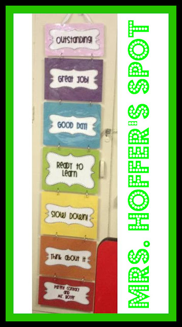 photo of: Mrs. Hoffer's Spot Behavior Management Chart (Behavior Chart RoundUP via RainbowsWithinReach)