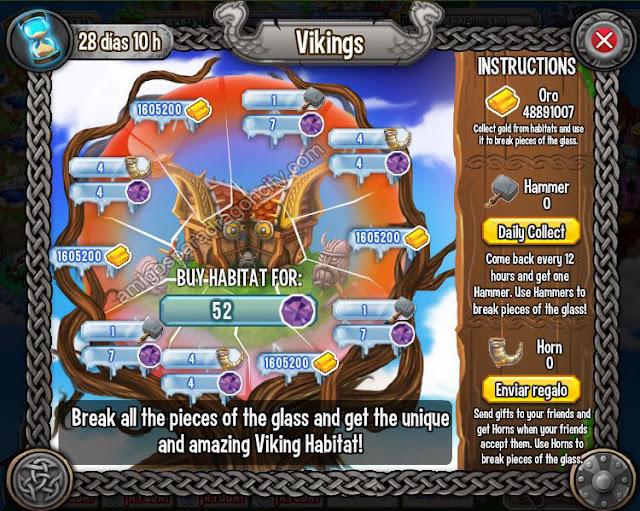 imagen de las tareas y objetos magicos del primer juego de la isla vikingo de dragon