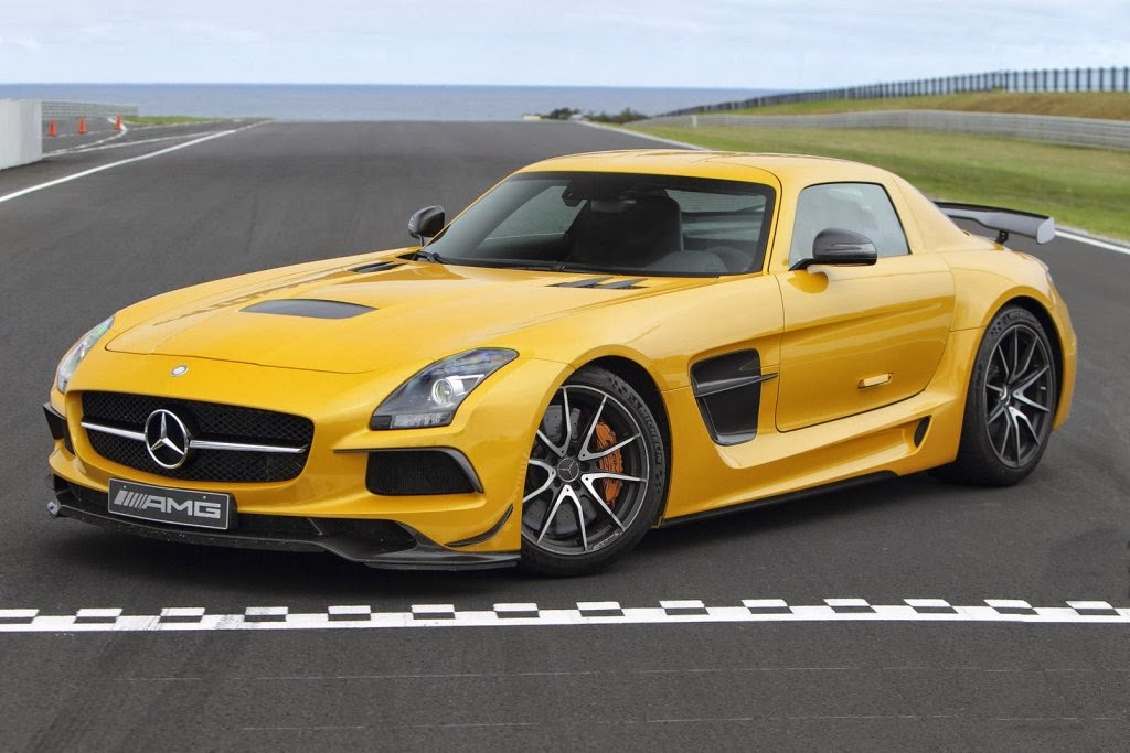 Mercedes SLS AMG Black Series Yellow Color Coupe Car Pictures
