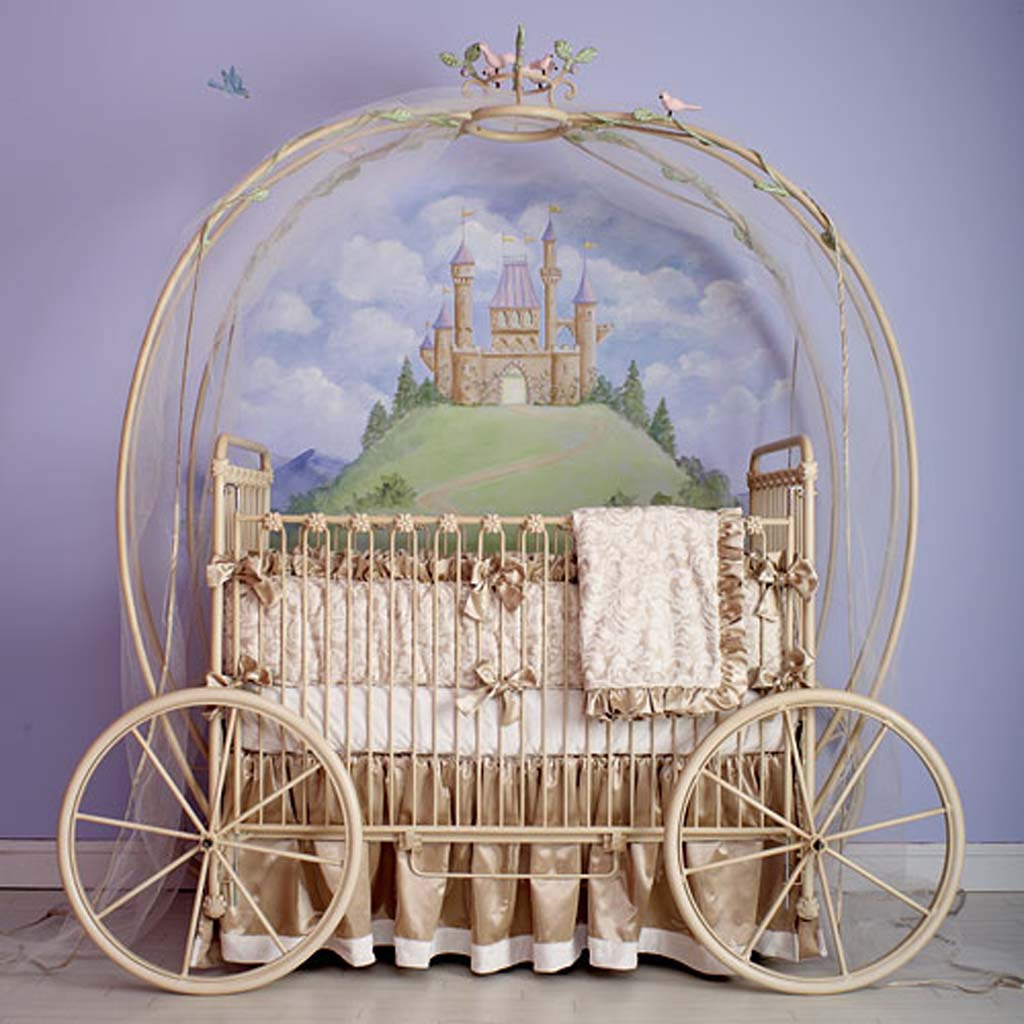 Ideas and decor beautiful baby crib for Baby cradle decoration ideas