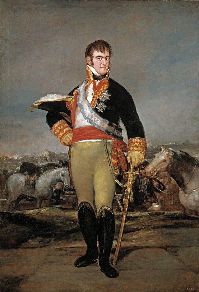 Retrato de Fernando VII obra del genial Francisco de Goya de España