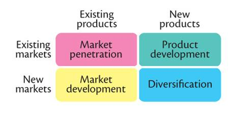 international business simplified market penetration grid Diversification is a corporate strategy to enter into a new market or industry in which the business doesn't currently operate, while also creating a new product for that new market.