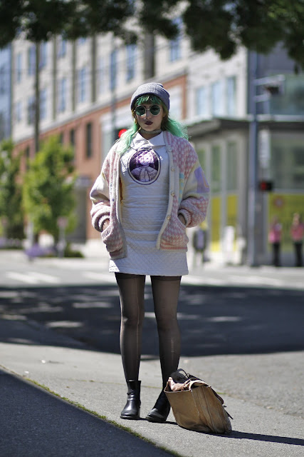 Natalie Uvalle CIrcle sunglasses babydoll dress seattle street style fashion it's my darlin'