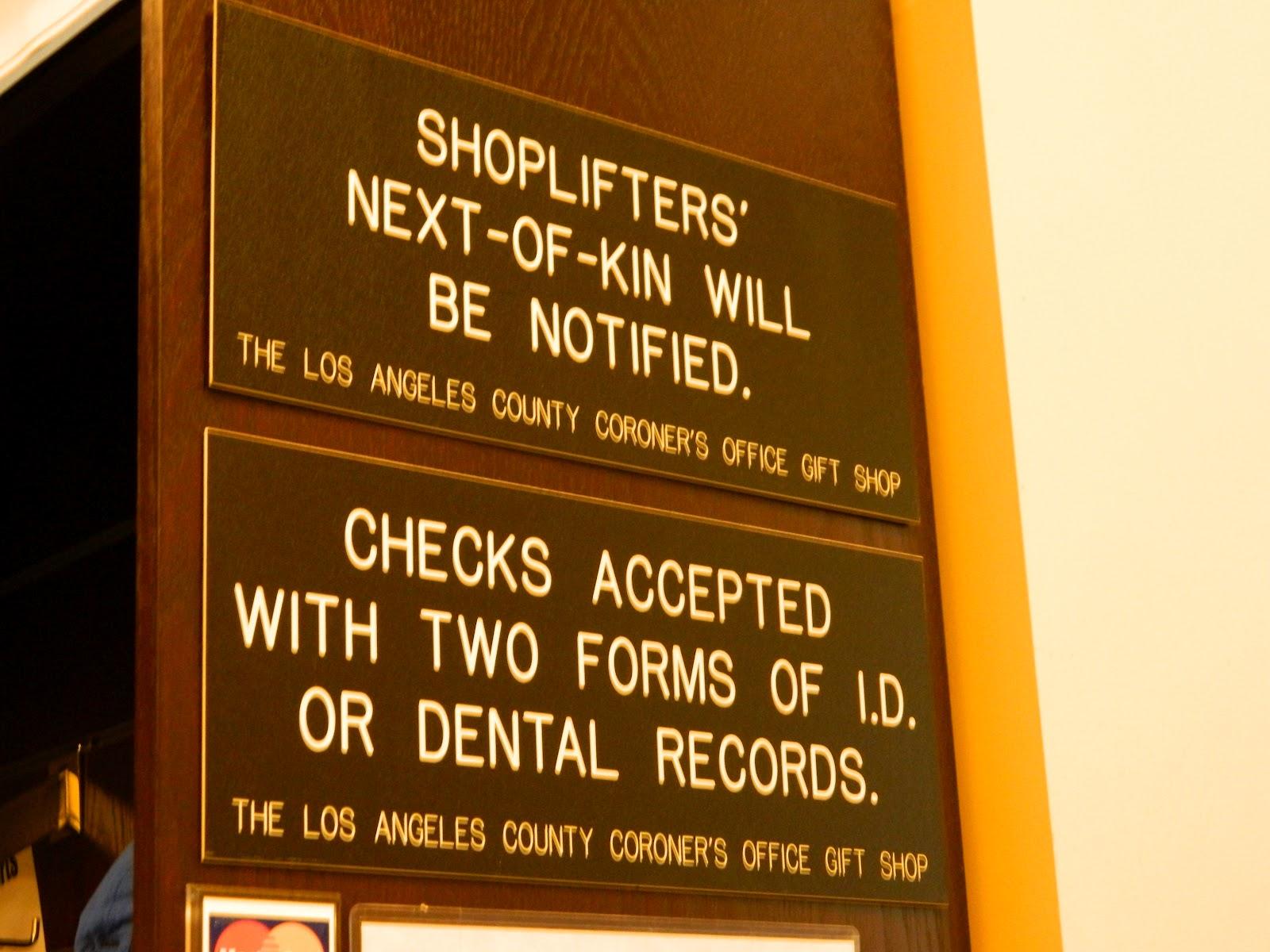 Roaming Rita: Coroner's Gift Shops, Did You Know?