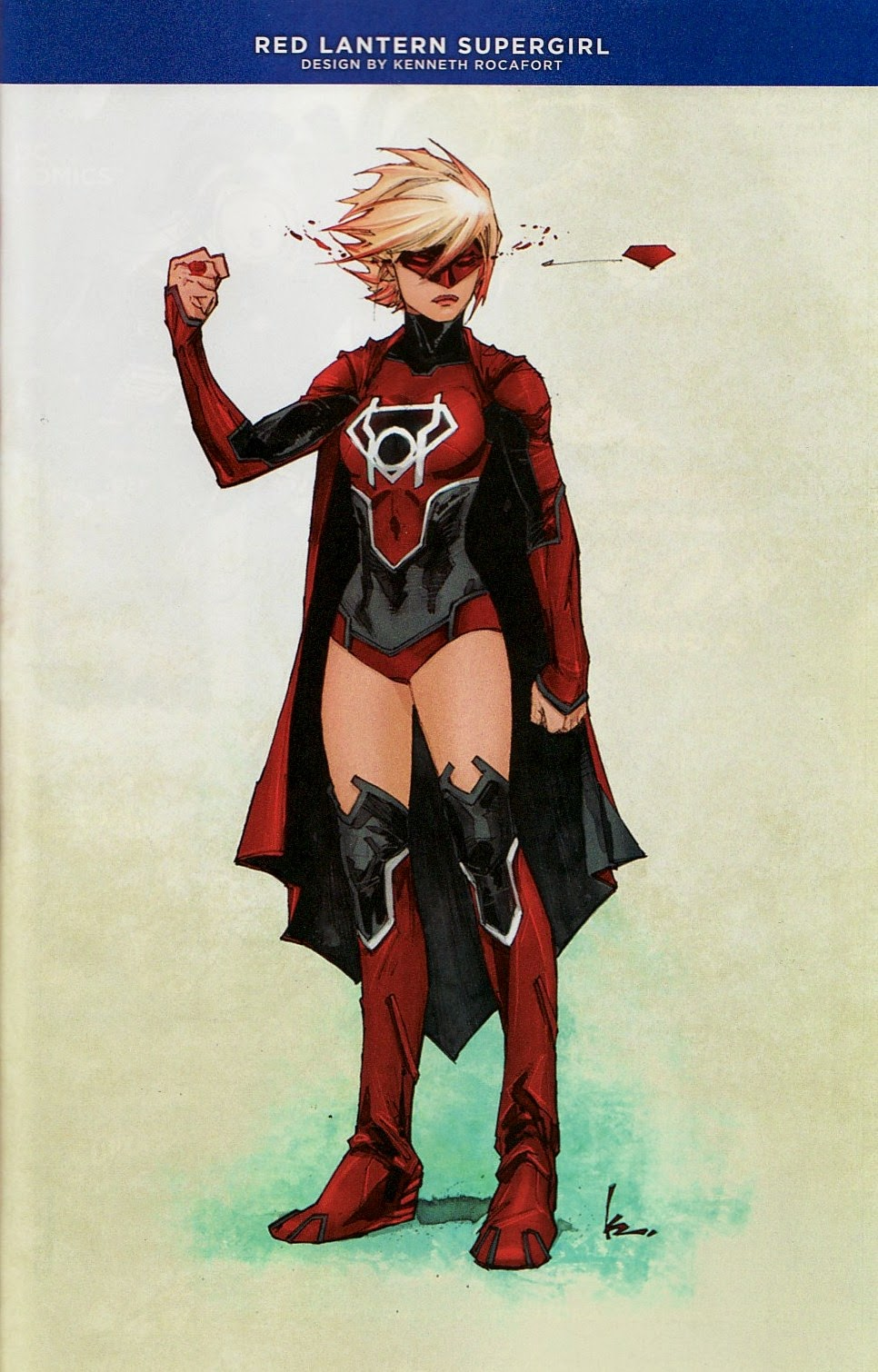 First Off Here Is Kenneth Rocaforts Red Lantern Design For Supergirl