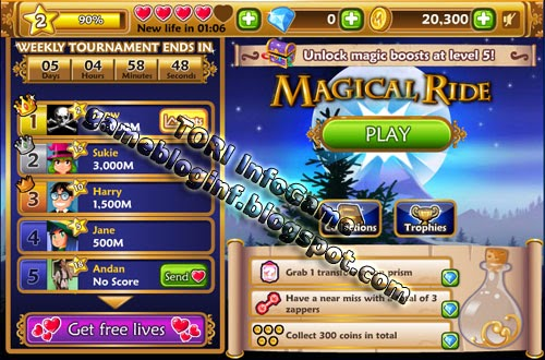Magical Ride Hack Coins, Exp and Score