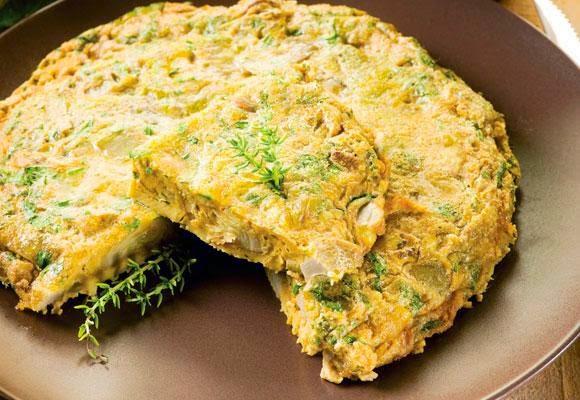 Omelete de alcachofra light