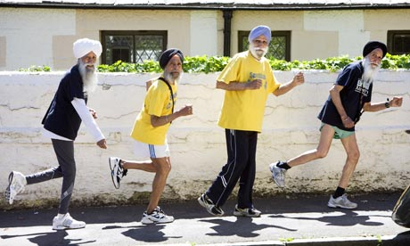 Image of four octogenarian runners.