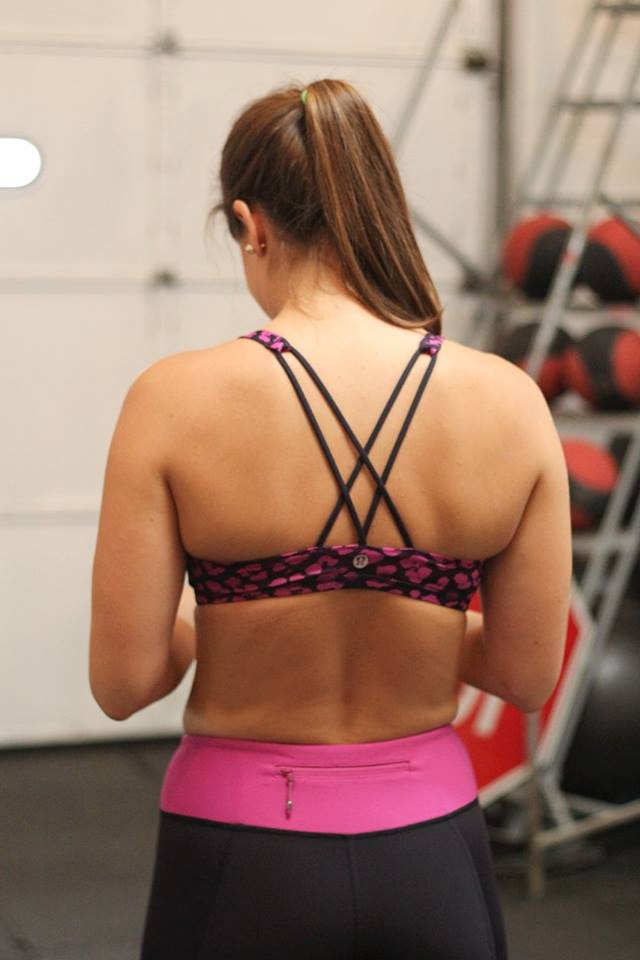 lululemon cherry-cheetah free-to-be-bra