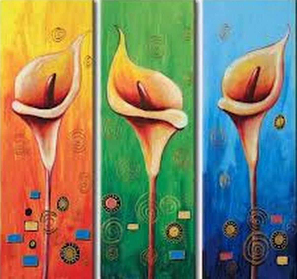 Cuadros modernos pinturas y dibujos flores pinturas al - Cuadros faciles de hacer ...
