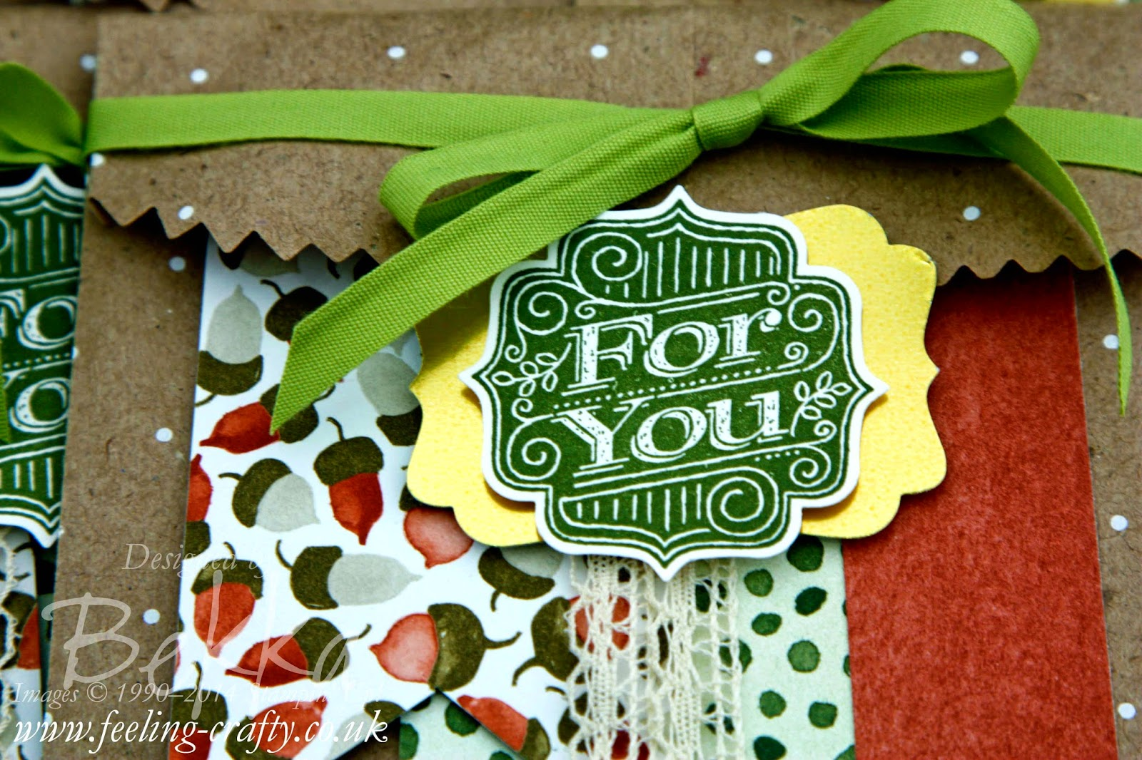 Autumnal Treat Bags using Color Me Autumn Papers by Stampin' Up!