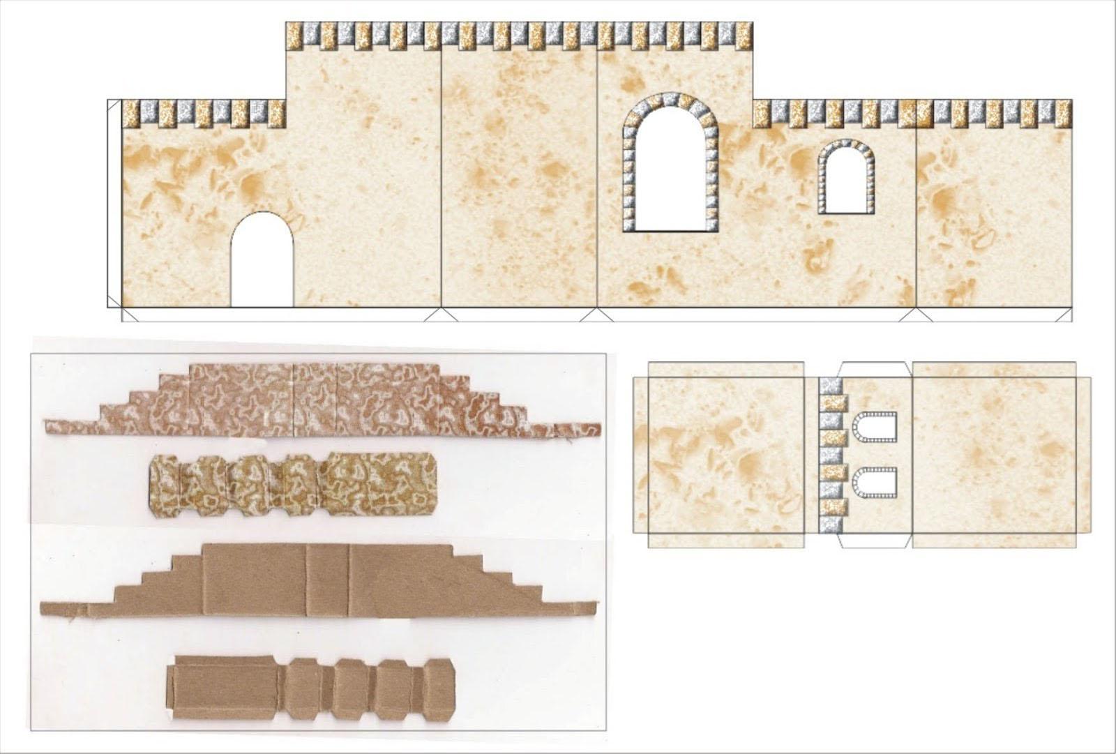plantilla casa para romana para navidad