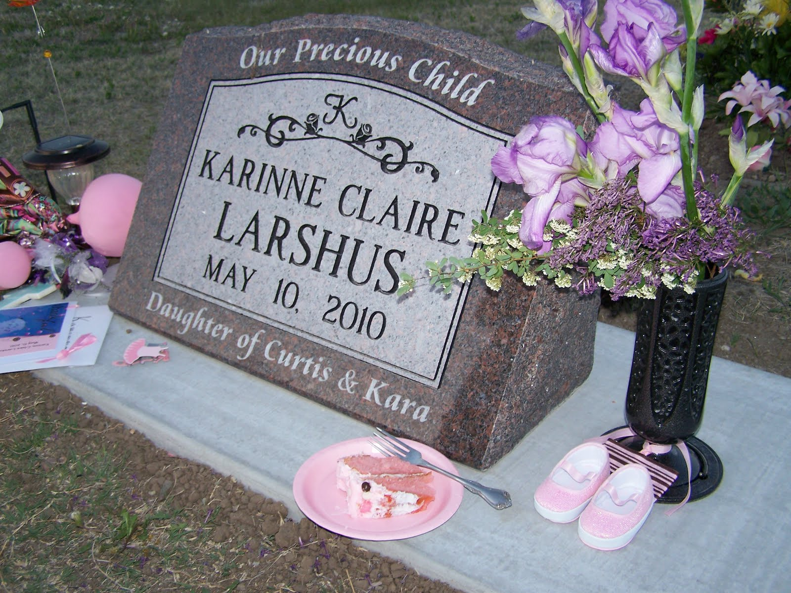 Karinne claire remembering karinne for her birthday part 2 danae and i had picked out a new pair of dancing shoes for karinnes grave my mom had placed a little white pair on her grave last may and they stayed izmirmasajfo