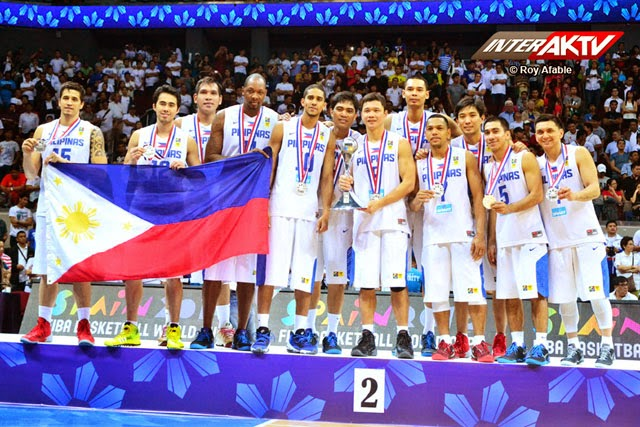 Gilas Pilipinas National team - Silver Medalists FIBA Asia 2013