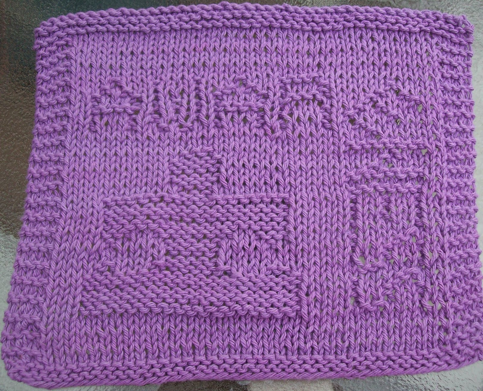 Knit Dishcloth Pattern Free : DigKnitty Designs: Autism Awareness * Free* Knit Dishcloth Pattern