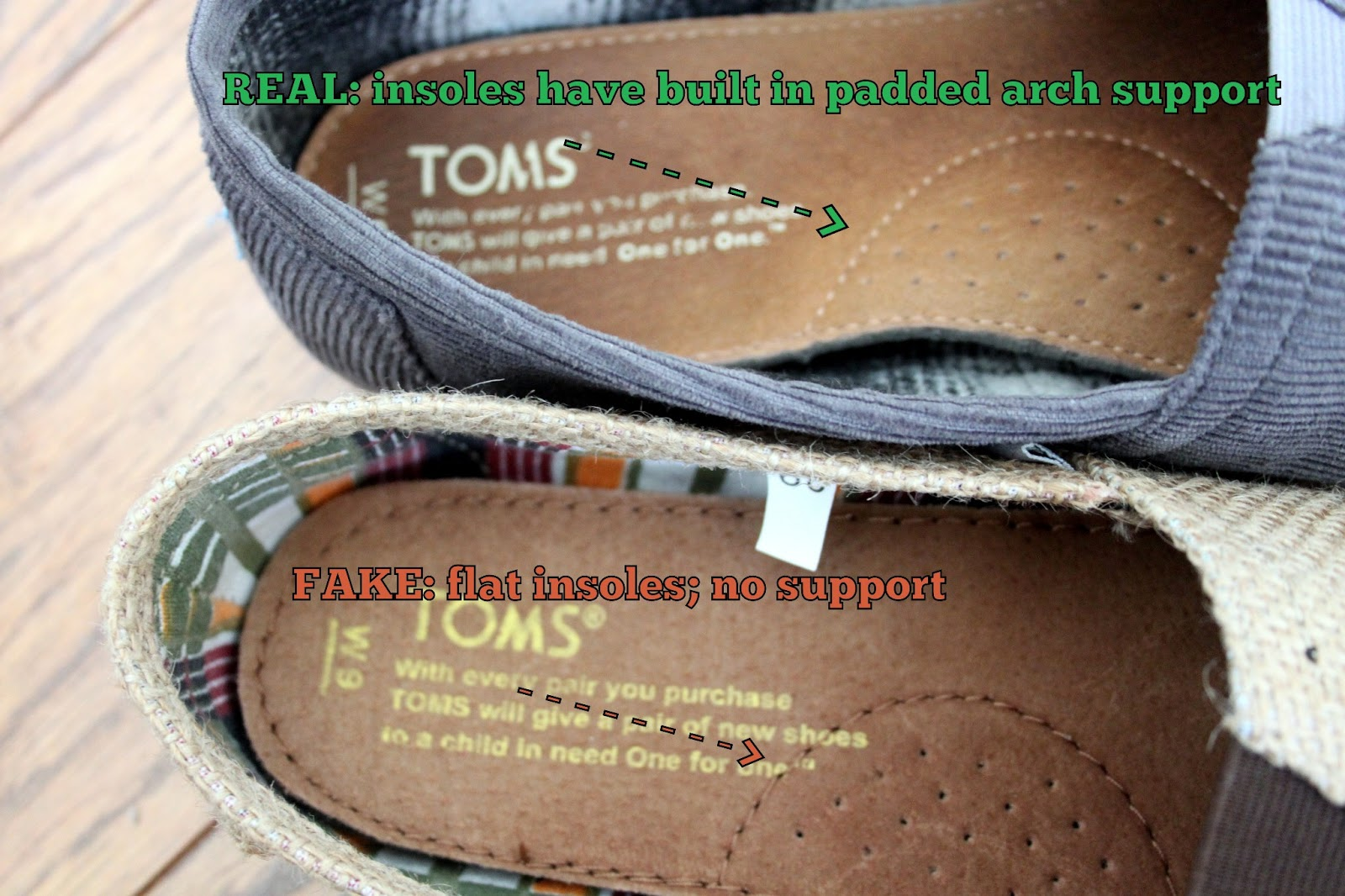 How to Identify Fake Toms Shoes