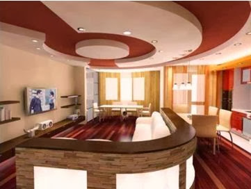 living room false ceiling designs pictures. white and red false ceiling design made of gypsum for living room