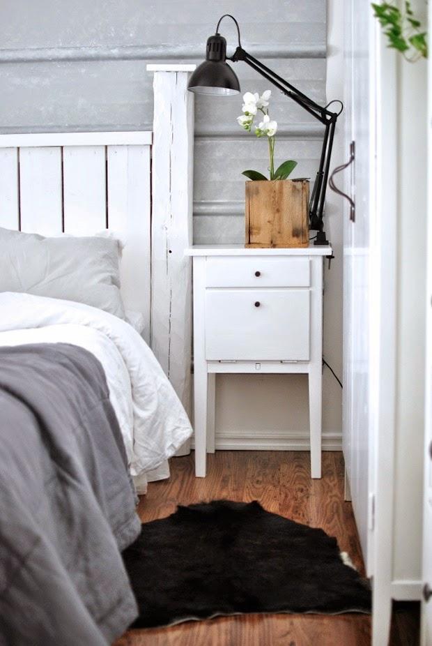hannashantverk.blogspot.se sovrum master bedroom pannplåt