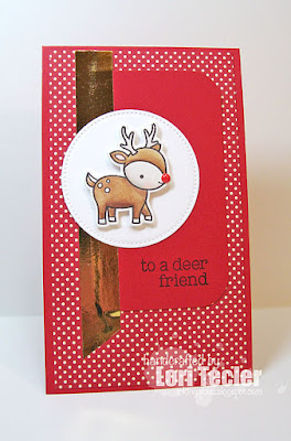 To a Deer Friend card-designed by Lori Tecler/Inking Aloud-stamps from Lawn Fawn