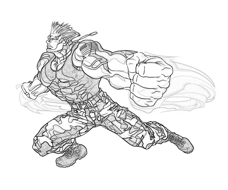 guile-attack-coloring-pages