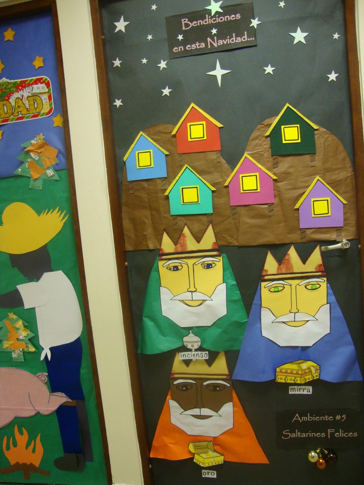 Decoracion reyes magos puerta for Decoracion de salon navideno