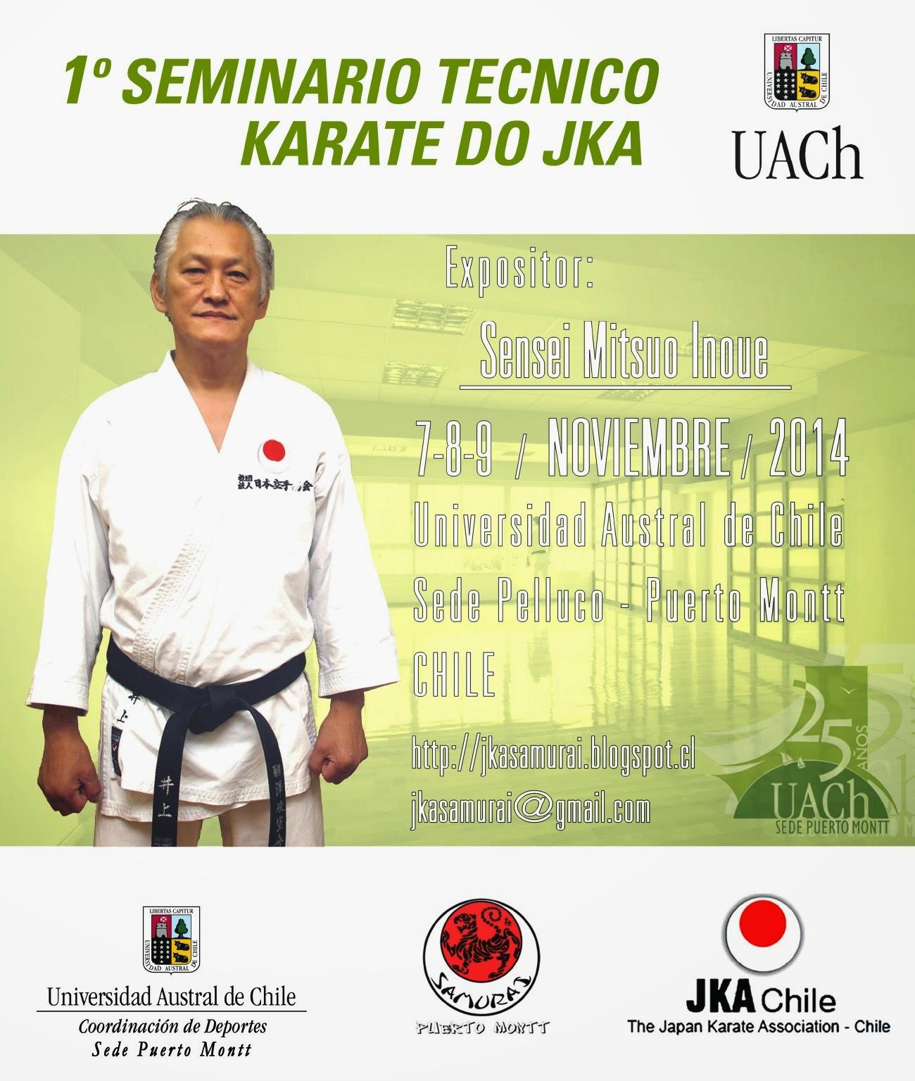 6to Seminario Técnico de Karate-Do JKA. Noviembre 2014, Puerto Montt. Primer Seminario la UACH