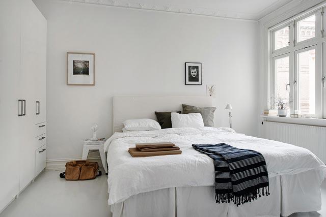 Habitación en vivienda de estilo nórdico
