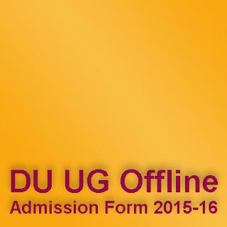 Delhi University UG Offline Admission Form 2015-16