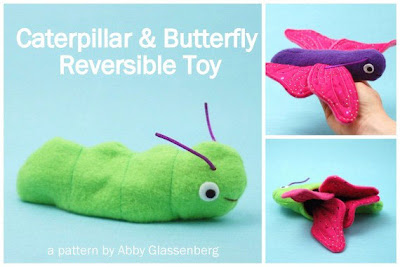 Caterpillar & Butterfly reversible toy pattern