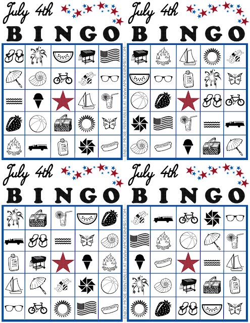 Free July 4th Bingo Cards Printable for Kids — a Modern Mrs.