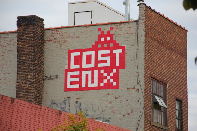 Invader Invades New York City - 2013 Edition - Collaboration With COST and ENX plus solo pieces.