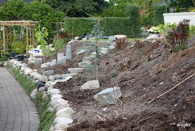 Anlegge hage i skråning