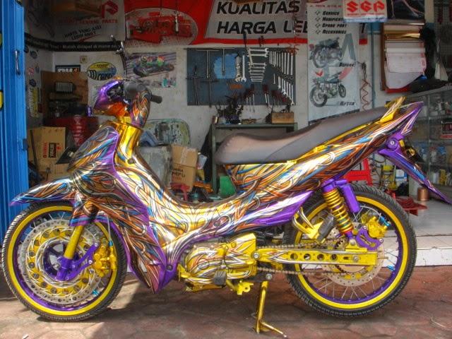 Foto Modifikasi Yamaha Jupiter Z Keren Air Brush