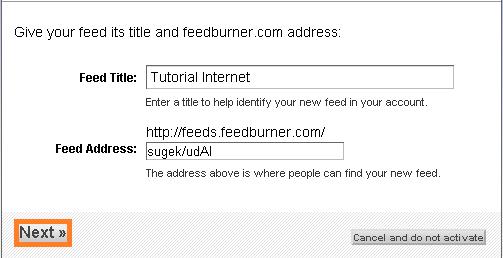 mendaftar feedburner