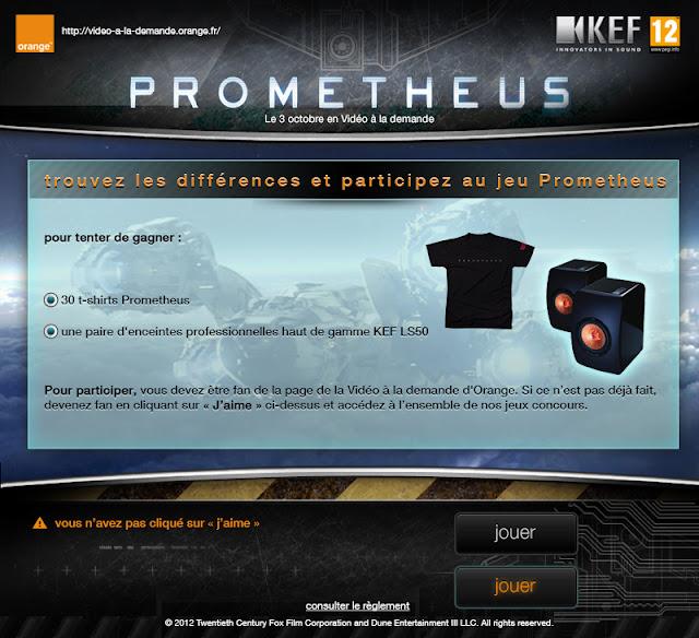 Grand concours Prometheus avec Orange