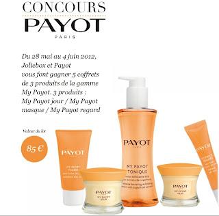JolieBox et Payot vous font gagner 5 coffrets de 3 produits de la gamme My Payot bon plan joliebox promotion payot gratuit