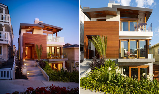 betterplace: Small Beach House Design with Beautiful Zen Garden