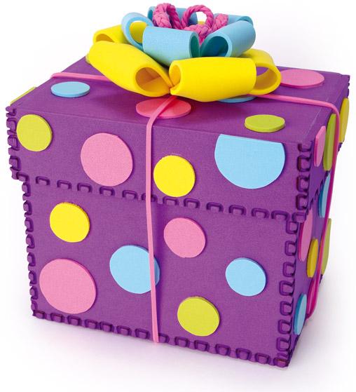 Paso a paso con jeannine pompo fomix goma eva - Cajas de carton decoradas para regalos ...