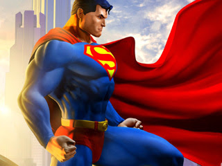 Wallpaper kartun Superman untuk BlackBerry 320x240