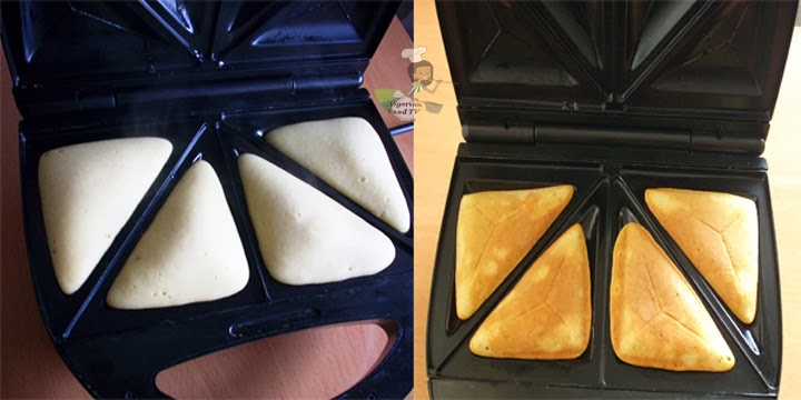 preparation of Cake in a Sandwich Toaster / Maker, nigerian cake