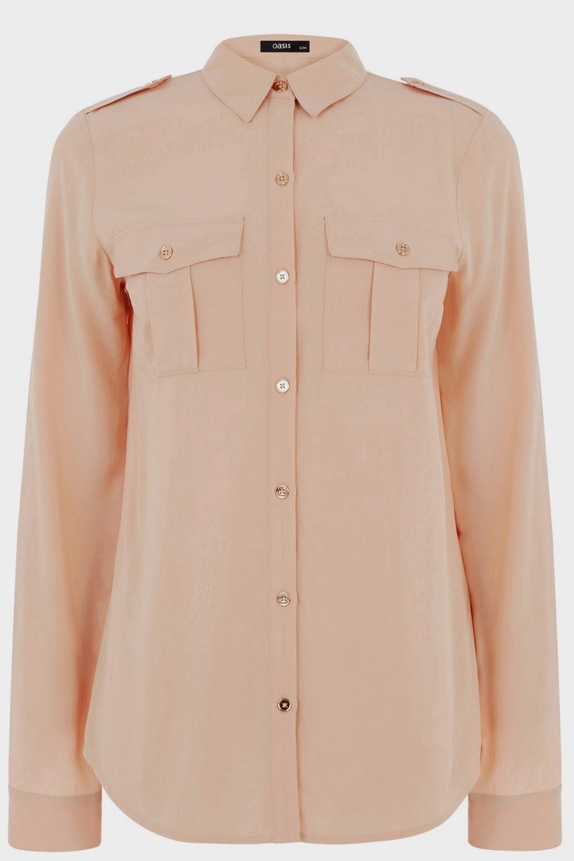 oasis peach shirt, oasis utility shirt,