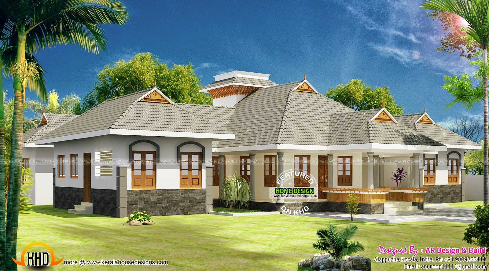 Modern house in 2100 sq ft keralahousedesigns One level luxury house plans
