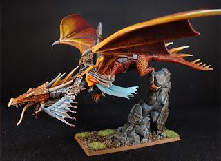 Señor alto elfo en dragón