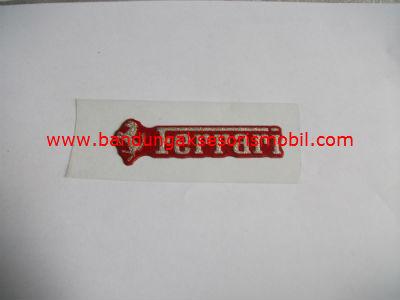 Emblem Metalic Small Ferrari Merah